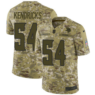 Nike Vikings #54 Eric Kendricks Camo Men's Stitched NFL Limited 2018 Salute To Service Jersey