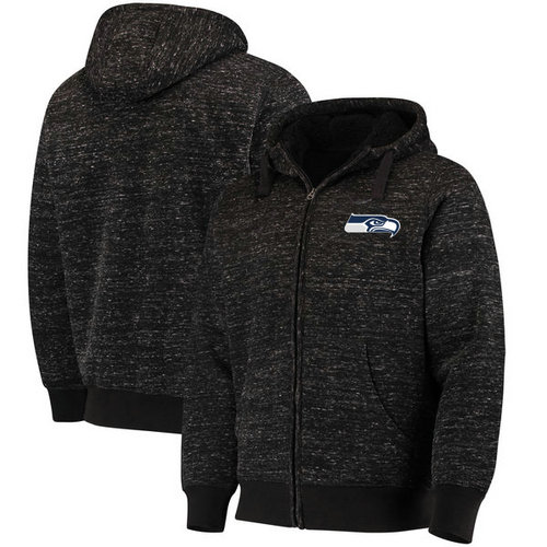 Seattle Seahawks G-III Sports by Carl Banks Discovery Sherpa Full-Zip Jacket - Heathered Black