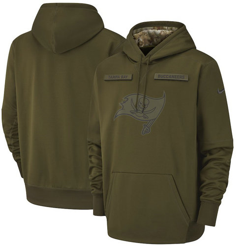 Tampa Bay Buccaneers Nike Salute to Service Sideline Therma Performance Pullover Hoodie - Olive