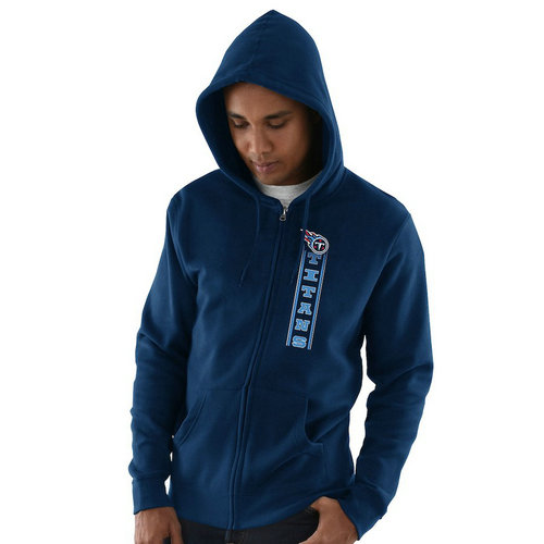 Tennessee Titans Hook and Ladder Full-Zip Hoodie - Navy