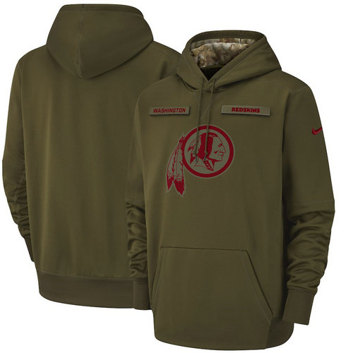 Washington Redskins Nike Salute to Service Sideline Therma Performance Pullover Hoodie - Olive