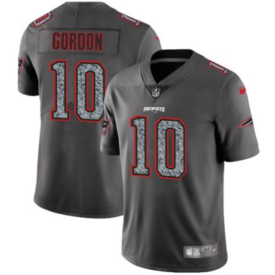 Men's NFL New England Patriots #10 Josh Gordon Gray Static Vapor Untouchable Nike Jersey
