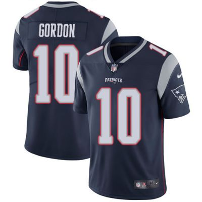 Men's NFL New England Patriots #10 Josh Gordon Navy Blue Home Vapor Untouchable Limited Nike Jersey