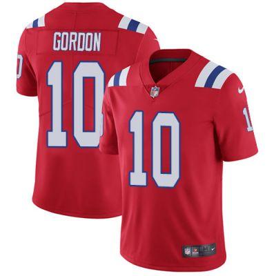Men's NFL New England Patriots #10 Josh Gordon Red Alternate Vapor Untouchable Limited Nike Jersey