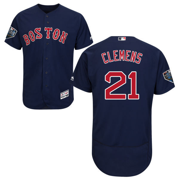 Red Sox #21 Roger Clemens Navy Blue Flexbase Authentic Collection 2018 World Series Stitched MLB Jersey