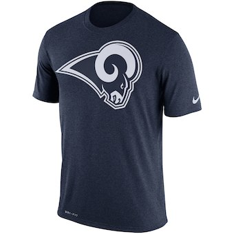 Men's Los Angeles Rams Nike Navy Legend Performance Logo Essential 3 T-Shirt