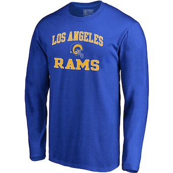 Men's Los Angeles Rams NFL Pro Line by Fanatics Branded Royal Vintage Victory Arch Long Sleeve T-Shirt