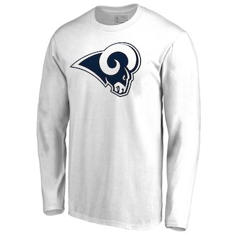 380802e7 Men's Los Angeles Rams NFL Pro Line by Fanatics Branded White Primary Logo  Long-Sleeve
