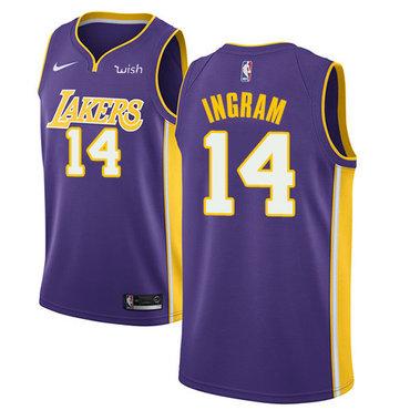 Nike Lakers #14 Brandon Ingram Purple NBA Swingman Statement Edition Jersey