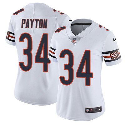 Nike Chicago Bears #34 Walter Payton White Women's Stitched NFL Vapor Untouchable Limited Jersey