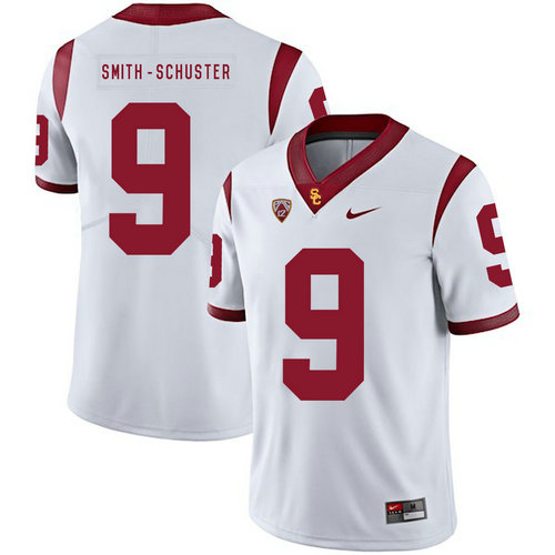 07073609830 USC Trojans 9 JuJu Smith-Schuster White College Football Jersey