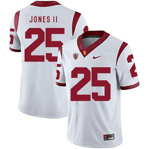 USC Trojans 25 Ronald Jones II White College Football Jersey
