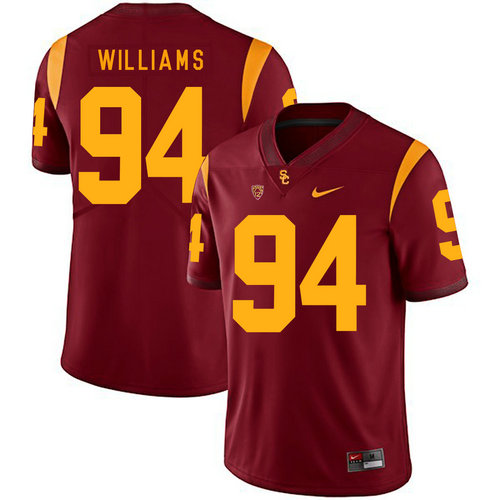 USC Trojans 94 Leonard Williams Red College Football Jersey
