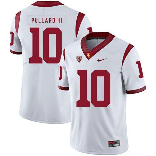 USC Trojans 10 Hayes Pullard III White College Football Jersey