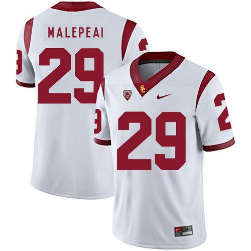 USC Trojans 29 Vavae Malepeai White College Football Jersey