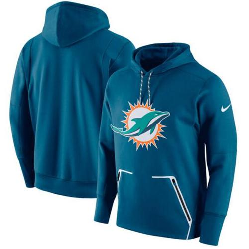 Top Miami Dolphins #17 Ryan Tannehill Aqua Green Sawyer Hooded  hot sale