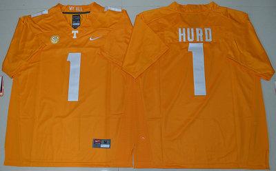 Tennessee Vols #1 Jalen Hurd Dobbs Orange College Jersey