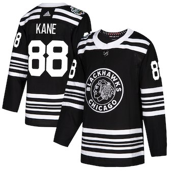 Adidas Chicago Blackhawks #88 Patrick Kane Black 2019 Winter Classic Authentic Player Jersey