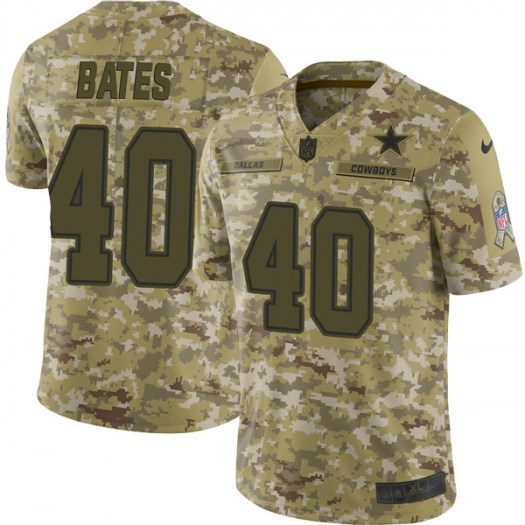 Men's Nike Dallas Cowboys #40 Bill Bates Limited Camo 2018 Salute to Service Jersey