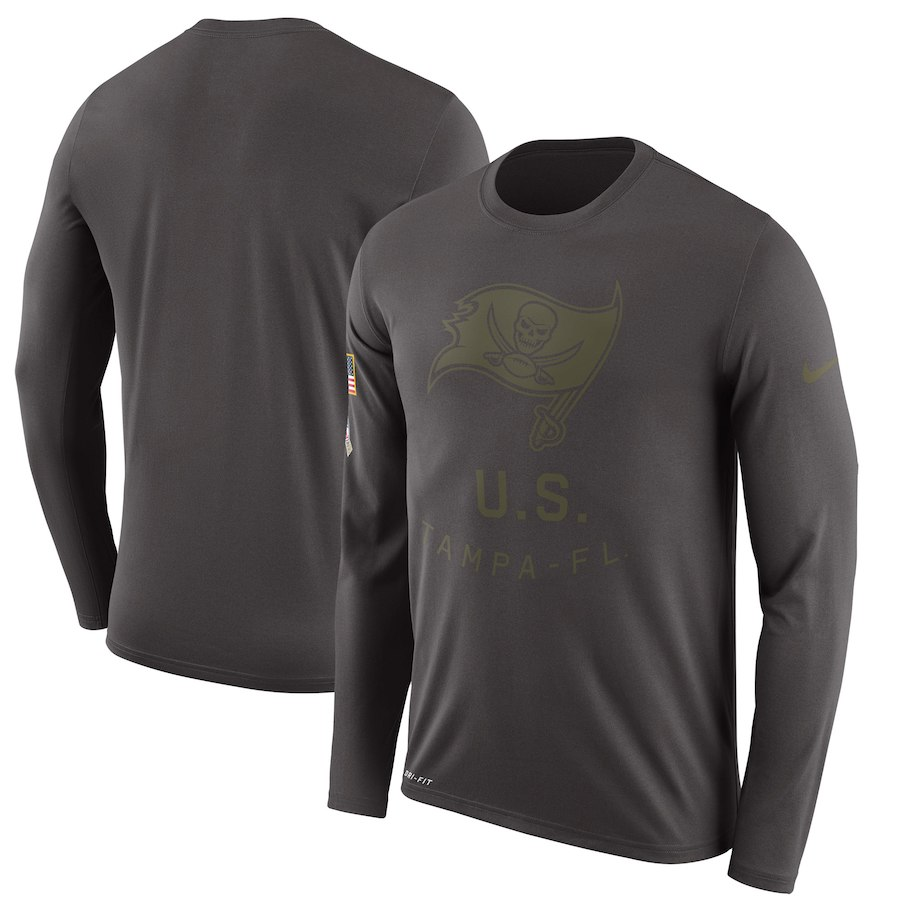 Tampa Bay Buccaneers Nike Salute To Service Sideline Legend Performance Long Sleeve T-Shirt Pewete