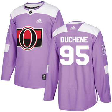 Kid Adidas Senators 95 Matt Duchene Purple Authentic Fights Cancer Stitched NHL Jersey