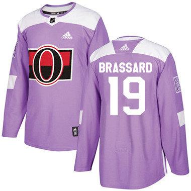 Kid Adidas Senators 19 Derick Brassard Purple Authentic Fights Cancer Stitched NHL Jersey