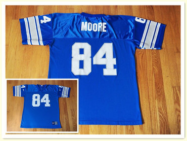 Vtg Reebok Herman Moore Detroit Lions #84 Blue Jersey
