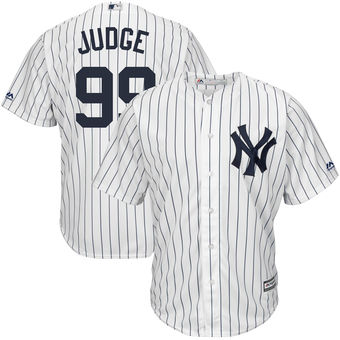 Men's New York Yankees Aaron Judge Majestic Home White Home Official Cool Base Player Jersey