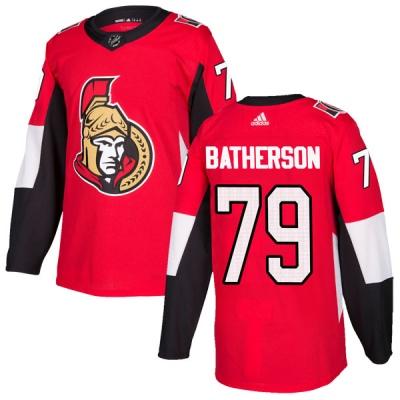 Men's Ottawa Senators #79 Drake Batherson  Adidas Home Authentic Red Jersey