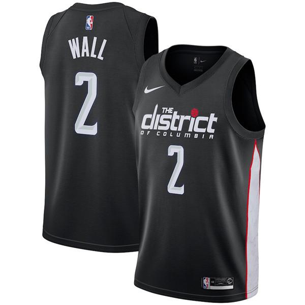 Nike NBA Washington Wizards #2 John Wall Jersey 2018-19 New Season City Edition Jersey