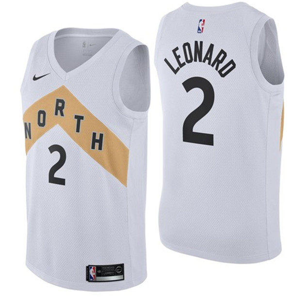Nike Toronto Raptors #2 Kawhi Leonard Black NBA Swingman City Edition Jersey