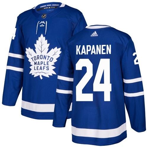 Adidas Toronto Maple Leafs #24 Authentic Kasperi Kapanen Royal Blue NHL Home Men's Jersey