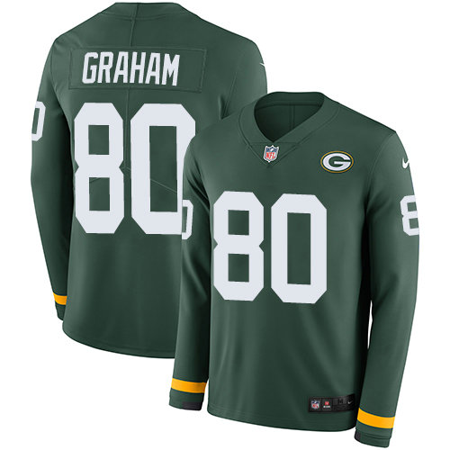 Nike Packers 80 Jimmy Graham Green Team Color Men's Stitched NFL Limited Therma Long Sleeve Jersey