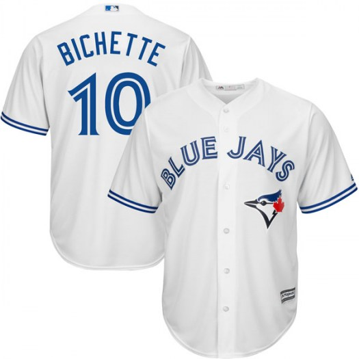 Men's Toronto Blue Jays #10 Bo Bichette White Cool Base Jersey