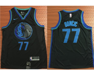 d44c84c86fa Nike Dallas Mavericks  77 Luka Doncic Black 2018-19 NBA Swingman City  Edition Jersey