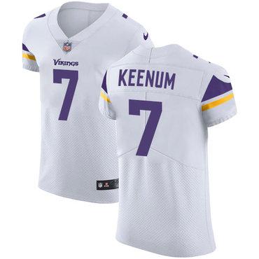 promo code ec263 0b522 Men's Nike Minnesota Vikings #7 Case Keenum White Stitched ...