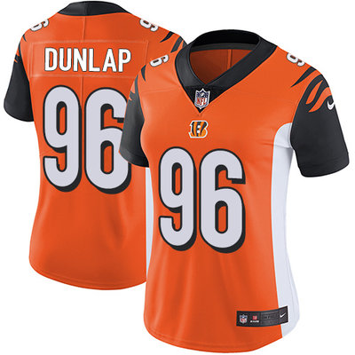 961421b2f26 Women s Nike Cincinnati Bengals  96 Carlos Dunlap Orange Alternate Stitched  NFL Vapor Untouchable Limited Jersey