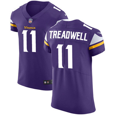 Men's Nike Minnesota Vikings #11 Laquon Treadwell Purple Team Color Stitched NFL Vapor Untouchable Elite Jersey