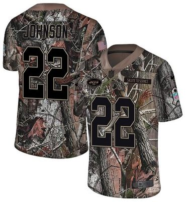 Nike Jets #22 Trumaine Johnson Camo Men's Stitched NFL Limited Rush Realtree Jersey