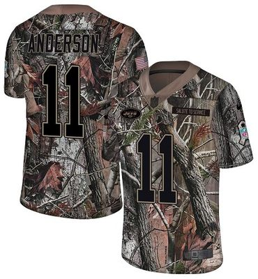 Nike Jets #11 Robby Anderson Camo Men\'s Stitched NFL Limited Rush Realtree Jersey