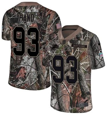 Nike Lions #93 Da\'Shawn Hand Camo Men\'s Stitched NFL Limited Rush Realtree Jersey