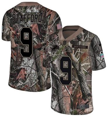 Nike Lions #9 Matthew Stafford Camo Men\'s Stitched NFL Limited Rush Realtree Jersey