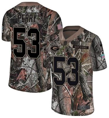 Nike Packers #53 Nick Perry Camo Men\'s Stitched NFL Limited Rush Realtree Jersey