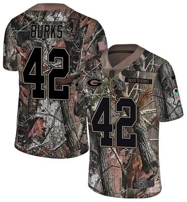Nike Packers #42 Oren Burks Camo Men\'s Stitched NFL Limited Rush Realtree Jersey