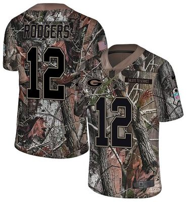 Nike Packers #12 Aaron Rodgers Camo Men\'s Stitched NFL Limited Rush Realtree Jersey