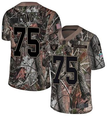Nike Raiders #75 Howie Long Camo Men\'s Stitched NFL Limited Rush Realtree Jersey