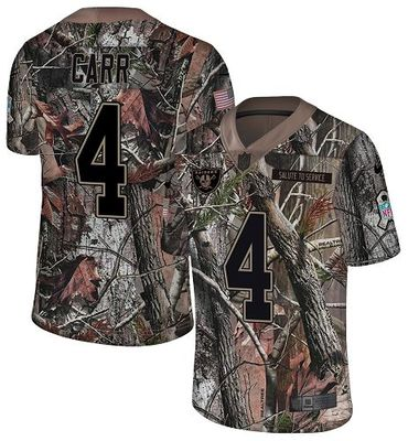 Nike Raiders #4 Derek Carr Camo Men\'s Stitched NFL Limited Rush Realtree Jersey