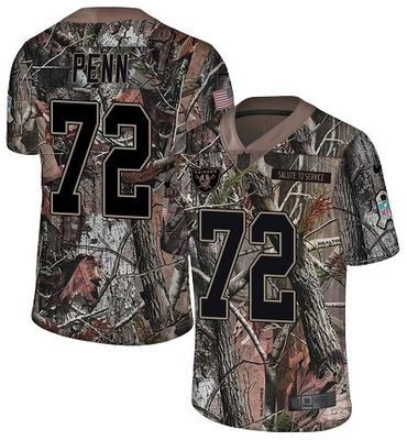 Nike Raiders #72 Donald Penn Camo Men\'s Stitched NFL Limited Rush Realtree Jersey