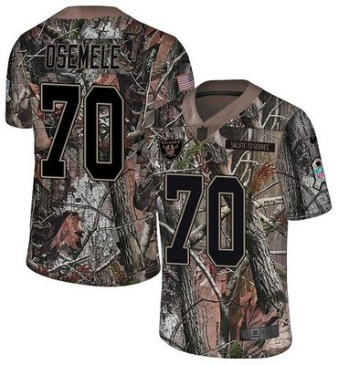 Nike Raiders #70 Kelechi Osemele Camo Men's Stitched NFL Limited Rush Realtree Jersey