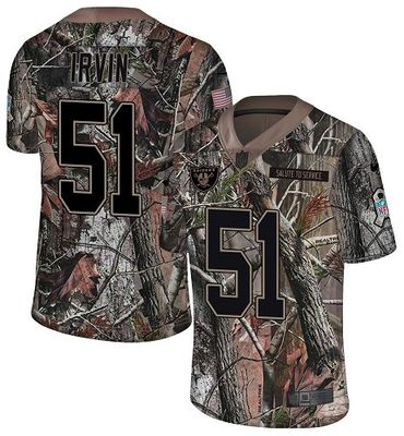 Nike Raiders #51 Bruce Irvin Camo Men\'s Stitched NFL Limited Rush Realtree Jersey